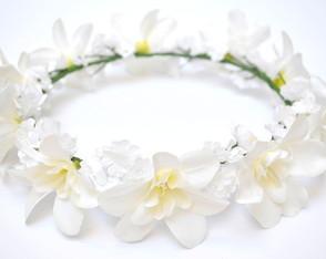 COROA DE FLORES WHITE ORCHIDS