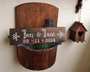 Placa Customizada Para Casamento XI