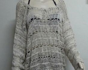 Blusa Crochet Grampo