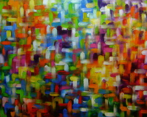 Abstrato Multicores 80x150 Cod 760