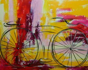 Pintado A M�o Quadro Bike 70x100 Cod 815