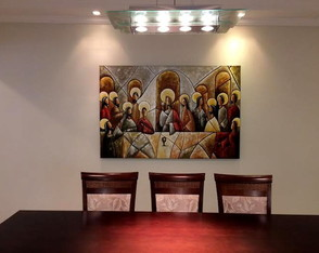 Pintura A M�o Santa Ceia 100x150 Cod 818