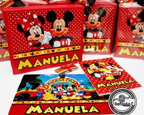 Kit Luxo Desenho Mickey e Minnie