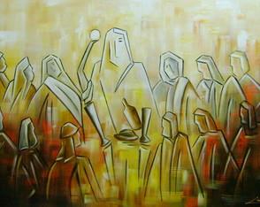 Pintura A M�o Santa Ceia 70x100 Cod 822