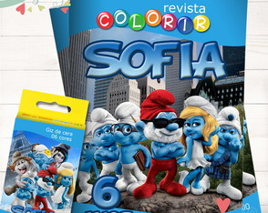 Kit Revista + Giz Smurf