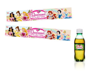 Adesivos mini guaran� Princesas Disney