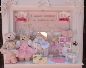 Quadro Maternidade Beb� Fam�lia Urso P