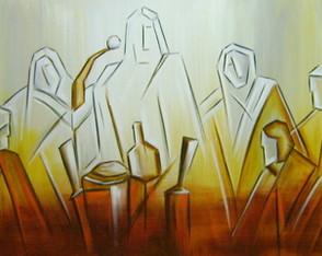 Pintura A M�o Santa Ceia 50x120 Cod 830
