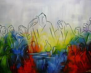 Pintura A M�o Santa Ceia 70x100 Cod 832