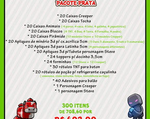 Kit Festa Prata Minecraft