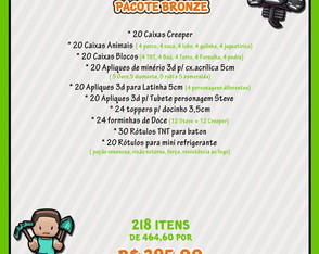 Kit Festa Bronze Minecraft