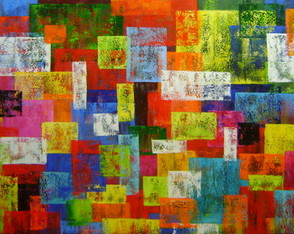 Pintura Abstrata Painel 70x120 Cod 836