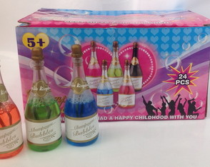 Caixa de champanhe colorida bolha sab�o