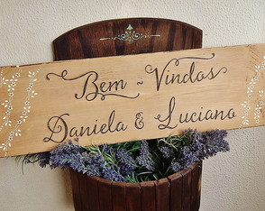 Placa Customiz�vel Para Casamento VII