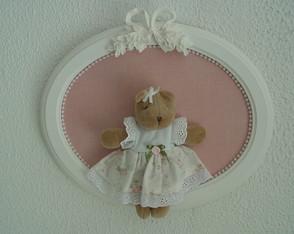 (MA 0198) Quadro oval ursa la�o