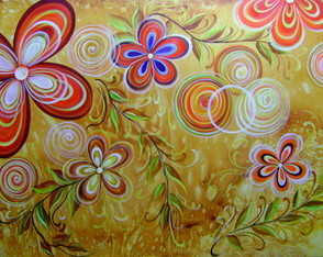 PAINEL 100x150 FLORAL MODERNO COD 852
