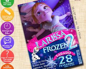 Arte Convite Frozen - Personalizado-193D