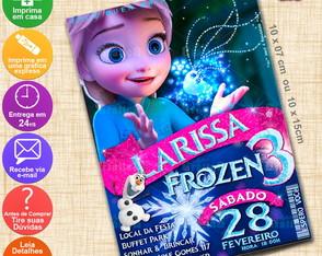 Arte Convite Frozen - Personalizado-193E