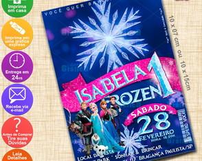 Arte Convite Frozen - Personalizado-193Q