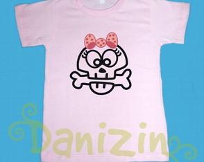 T-Shirt Infantil CAVEIRINHA GIRL