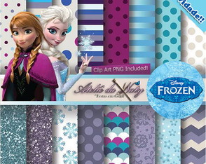 Kit Fundos Donwload - FROZEN