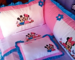 KIT PROTETOR DE BER�O MINNIE & MICKEY
