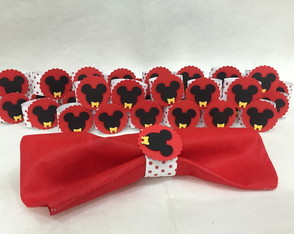 Porta Guardanapo da Minnie e Mickey