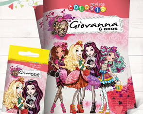 Kit Revista + Giz Ever After High