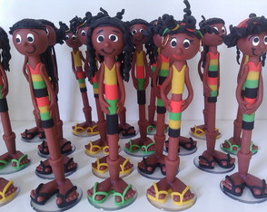 Canetas decoradas rastafari