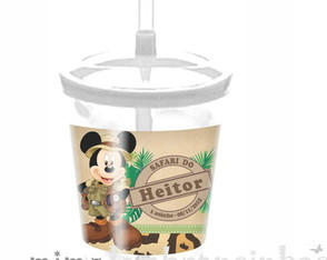 Copo Canudo Mickey Safari