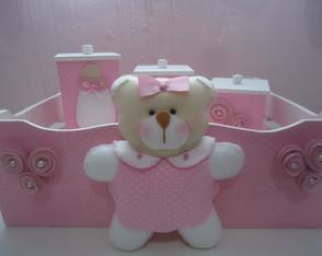 Kit higiene Ursa Rosa Vestido