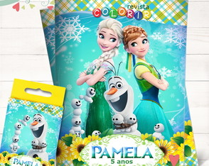 Kit Revista + Giz Frozen Fever