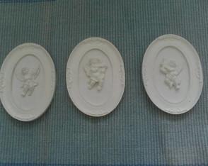 Aj 010  Trio de Quadrinhos de Anjos