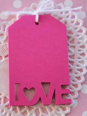 Love Tags Rosa (A328)