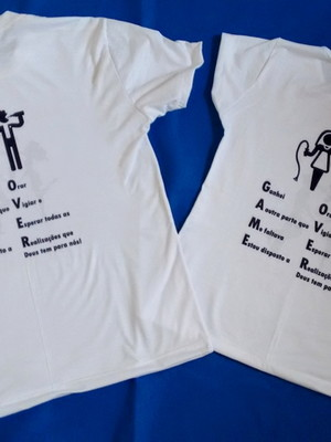 Kit 2 Camisetas Game Over