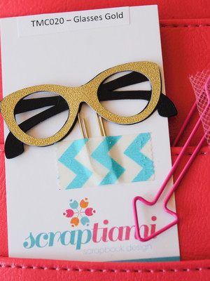 Clips Glasses Gold (TMC020)
