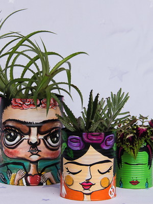 Frida Kahlo | kit com 3 latas