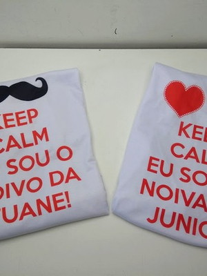 "Kit 2 Camisetas dos Noivos ""Keep Calm"""