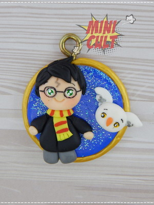 Pingente Harry Potter e Edwiges