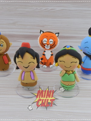 Kit 5 Mini Dorbz Aladdin