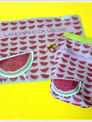 Kit Lanche melancia plastificado