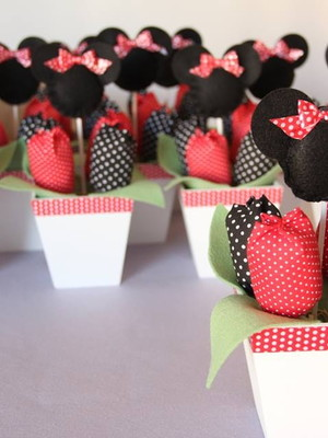 Arranjo de mesa Tema Minnie