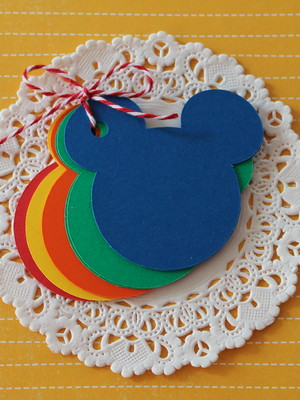 Kit Tags Mickey Rainbow (K04 )