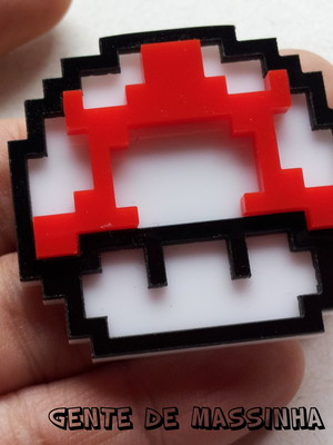 Broche Mario Bros Clássico - Pixelado - black friday