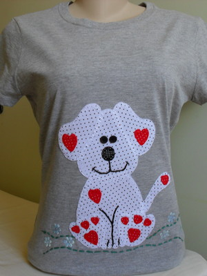 Camiseta Baby Look - Cachorrinho 1