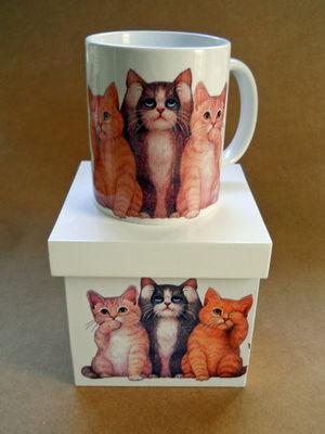 Caneca gato Com Caixa