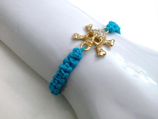 Pulseira Caveira - Azul