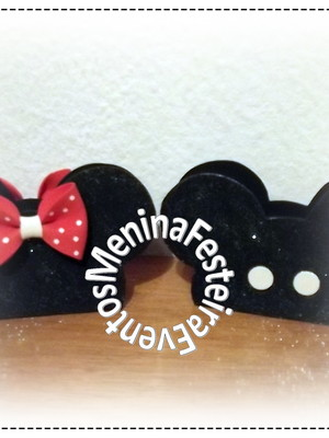 PORTA GUARDANAPO MICKEY OU MINNIE