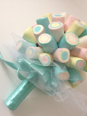 Buque de Marshmallow Azul Tiffany