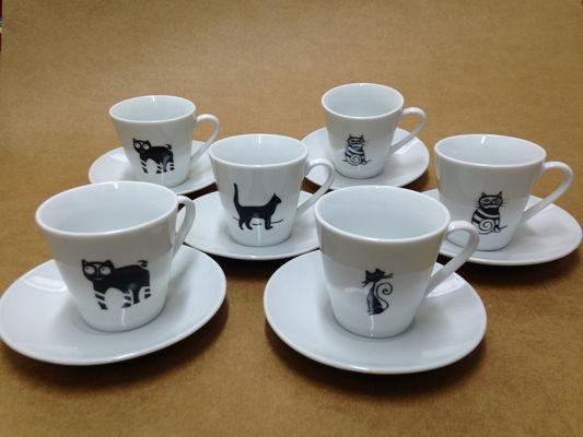 Conj 6 xic cafe c pires gato